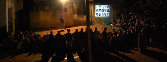 Side show in village (sowing seeds 2010)